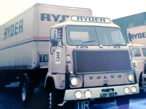 1978 Mike Ponsonby in Volvo F88-290 at Electric Avenue, Witton, Birmingham during 1978