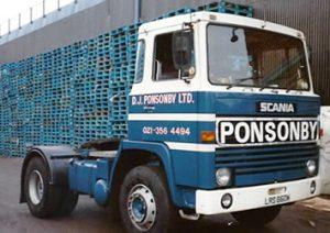 1989 D.J. Ponsonby Ltd Scania 111 Truck Driver Mark Ponsonby