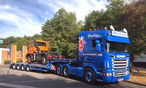 Mike A. Ponsonby Scania R440 Truck with Mercedes Unimog 4x4 Truck for Kidderminster on 250718